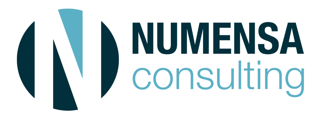 numensa consulting logo navy roundel with turq highlight