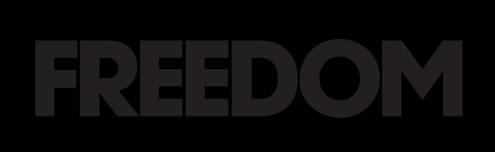 new freedom logo b&w
